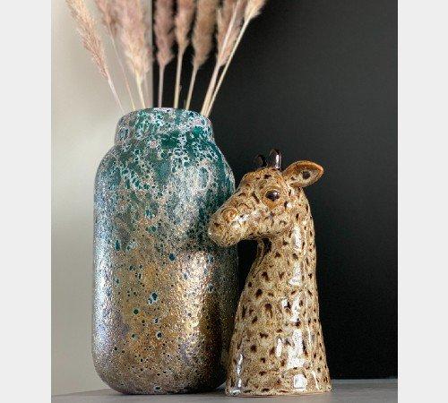 Vaas 'Giraffe', trendy vaas giraffe bruin, dierenvaas, moderne vaas dier, 020880-Jungle, 3