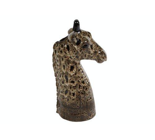 Vaas 'Giraffe', trendy vaas giraffe bruin, dierenvaas, moderne vaas dier, 020880-Jungle