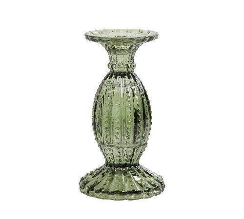 Kaarsenhouder 'Vintage', trendy kaarsenhouder glas, glazen kaarsenhouder, moderne kaarsenhouder licht groen, trenchic, junglemush, 7738778-Jungle