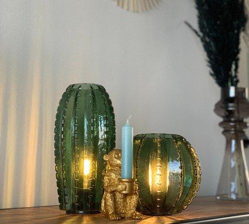 Tafellamp 'Cactus', trendy tafellamp op batterijen, tafellamp groen, Junglemush, 647090-Jungle, 3