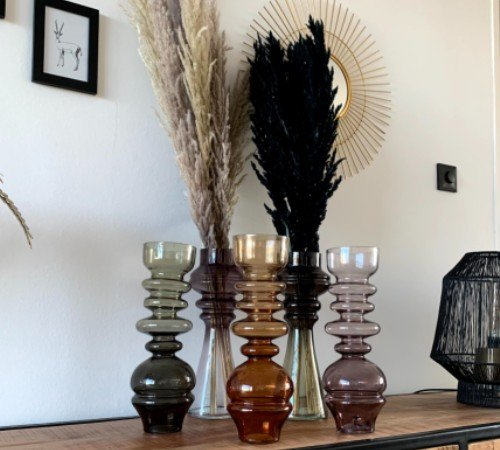 Vaas 'Blown' collectie, junglemush, moderne vazen, trendy vazen, vintage vazen