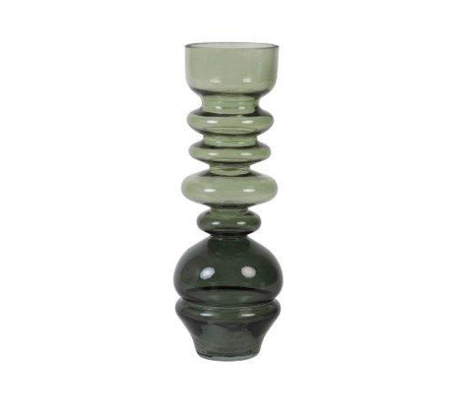 Vaas 'Blown', geblazen glazen vaas, trendy vaas, vintage vaas groen, moderne vaas, droogbloemen, Junglemush, 5973981-Jungle