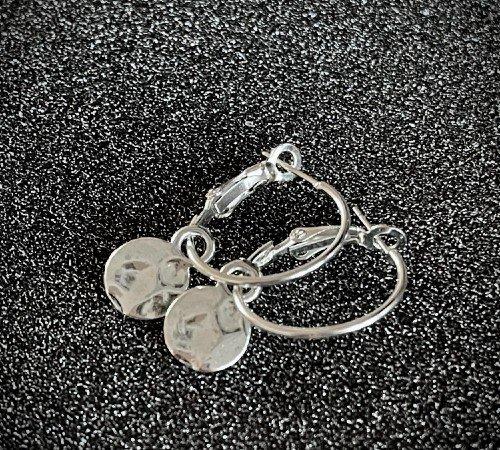 Oorbellen 'Hammerd', trendy oorbellen, zilveren oorbellen, hippe oorbellen, trenchic, Jungle jewelry, SO-0033, 2