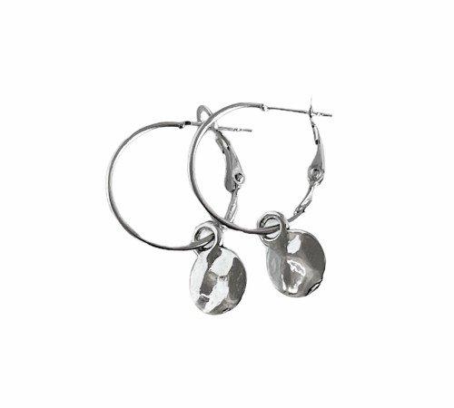 Oorbellen 'Hammerd', trendy oorbellen, zilveren oorbellen, hippe oorbellen, trenchic, Jungle jewelry, SO-0033
