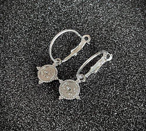 Oorbellen 'Lucky eye', trendy oorbellen, zilveren oorbellen, hippe ogen oorbellen, trenchic, Jungle jewelry, SO-0022, 2