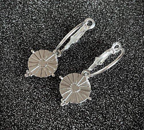 Oorbellen 'Shine', trendy oorbellen, zilveren oorbellen, hippe hartjes oorbellen, trenchic, Jungle jewelry, SO-0031, 2