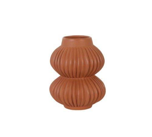 Vaas 'Terra', trendy vaas, moderne vaas, bruine, terracotta vaas, trenchic, junglemush, 44122-434-Jungle