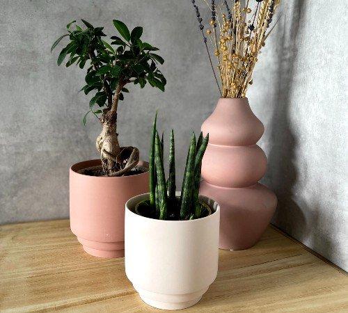 Bloempot 'Nora', trendy bloempot, moderne bloempot, bloempot roze_oudroze, junglemush, 2400036-Jungle, 2
