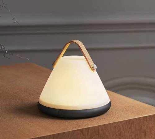 Tafellamp 'Nordlux Strap to-go', trendy tafellamp op accu, dimbare tafellamp, portable tafellamp, moderne buiten lamp, 46195001-Nordlux, trenchic, 2