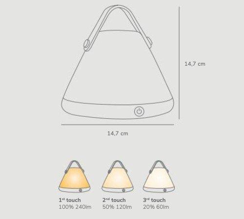 Tafellamp 'Nordlux Strap to-go', trendy tafellamp op accu, dimbare tafellamp, portable tafellamp, moderne buiten lamp, 46195001-Nordlux, trenchic, 4
