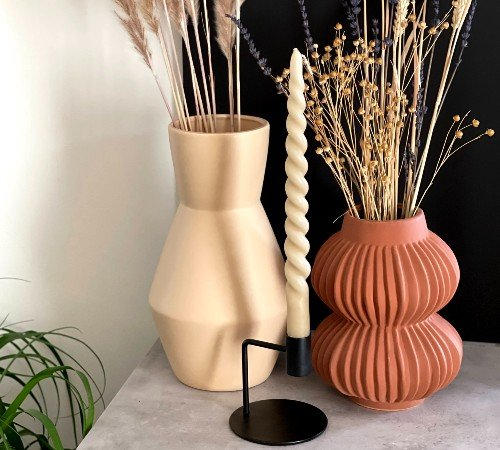 Vaas 'Terra', trendy vaas, moderne vaas, bruine, terracotta vaas, trenchic, junglemush, 44122-434-Jungle, 2